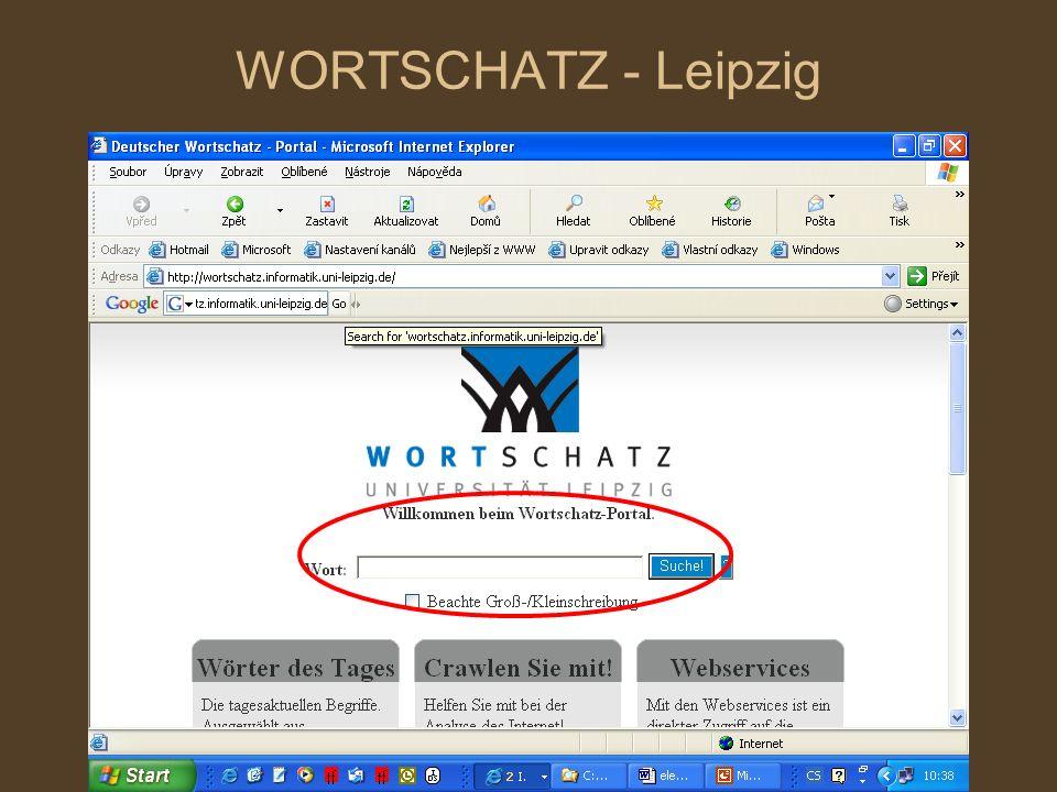 WORTSCHATZ - Leipzig