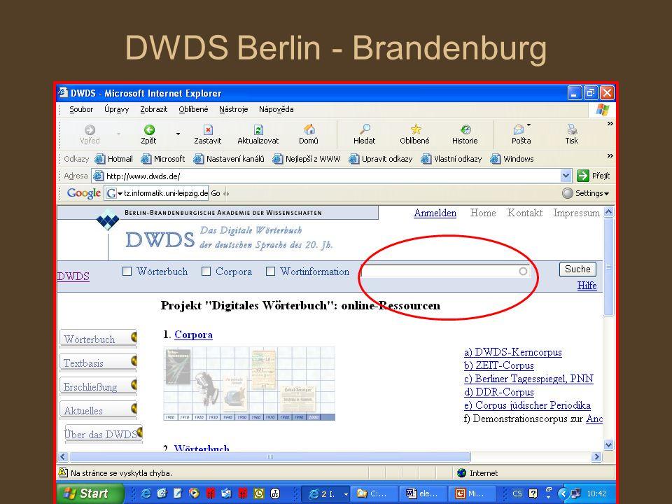 DWDS Berlin - Brandenburg
