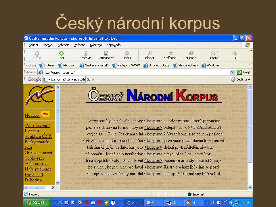 Český národní korpus