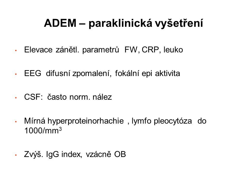 ADEM – paraklinická vyšetření