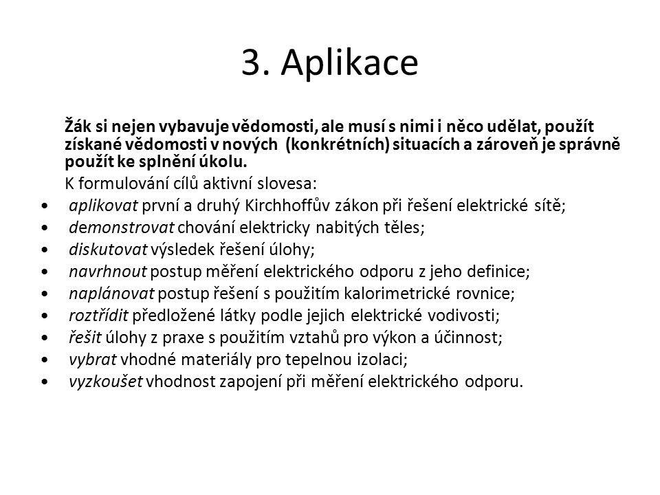 3. Aplikace