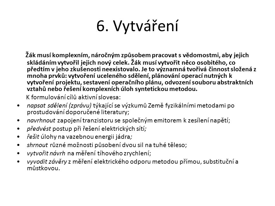 6. Vytváření