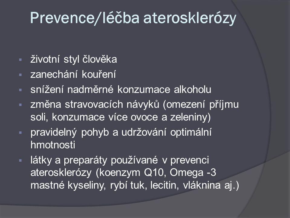 Prevence/léčba aterosklerózy