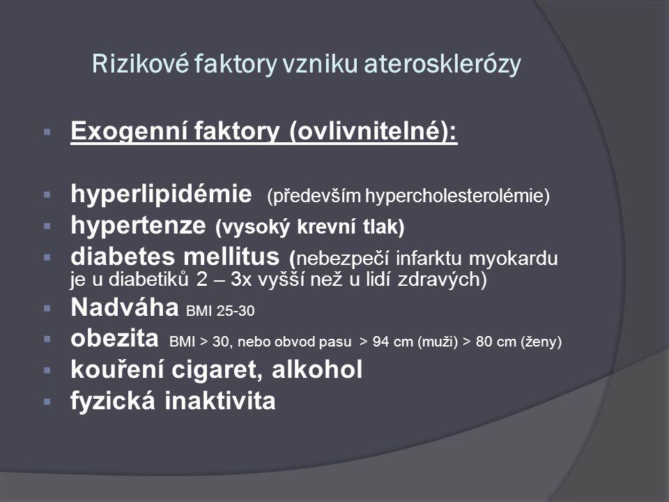 Rizikové faktory vzniku aterosklerózy