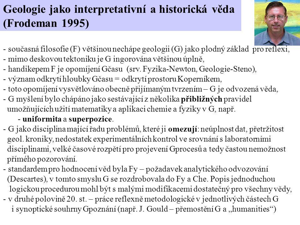 Geologie jako interpretativní a historická věda (Frodeman 1995)