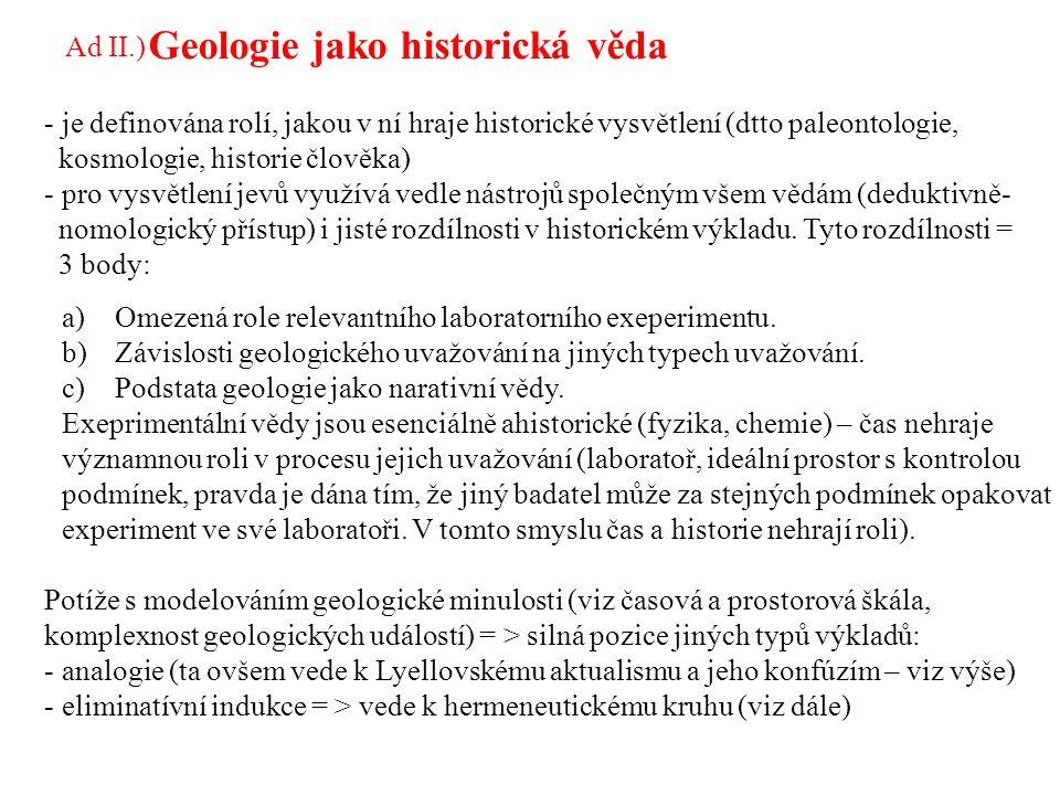 Geologie jako historická věda