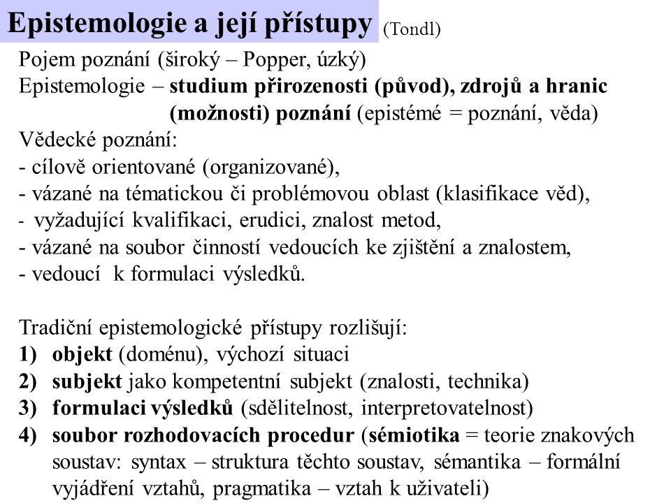 Epistemologie a její přístupy