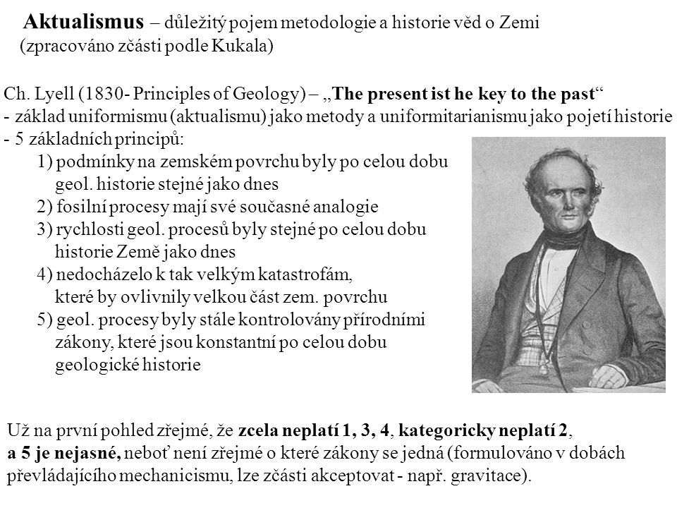 Aktualismus – důležitý pojem metodologie a historie věd o Zemi