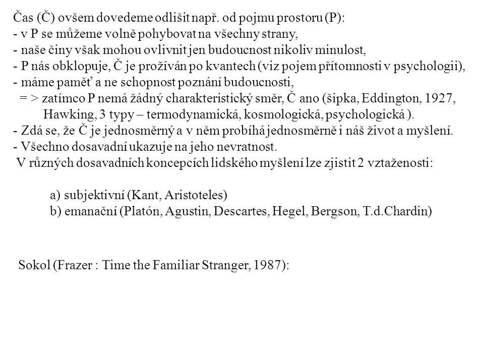 Čas (Č) ovšem dovedeme odlišit např. od pojmu prostoru (P):