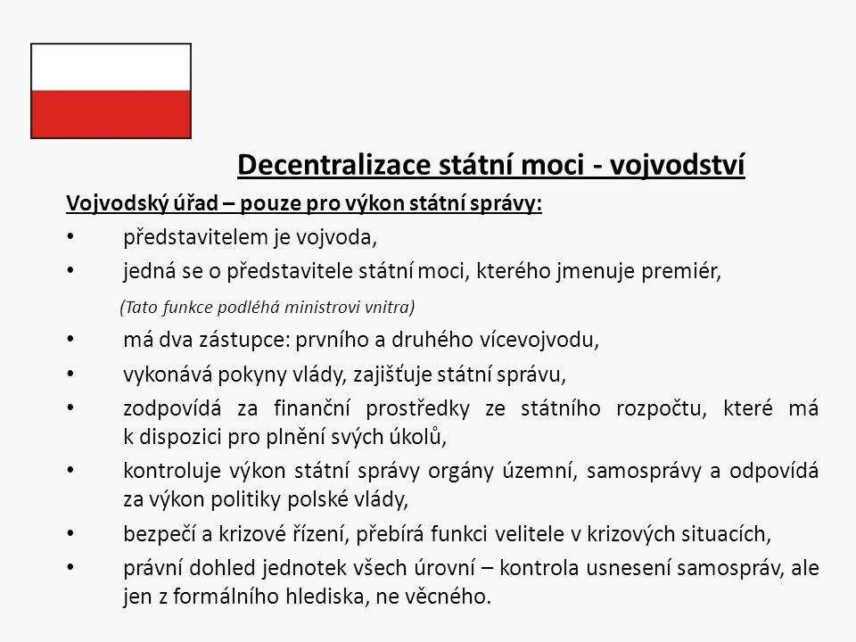 Decentralizace státní moci - vojvodství