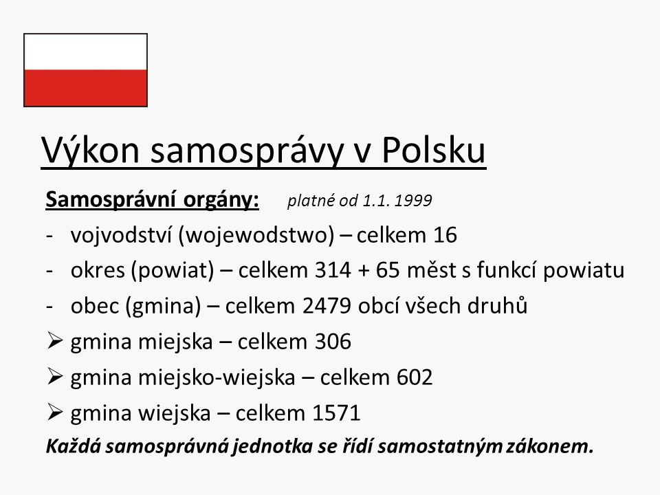 Výkon samosprávy v Polsku