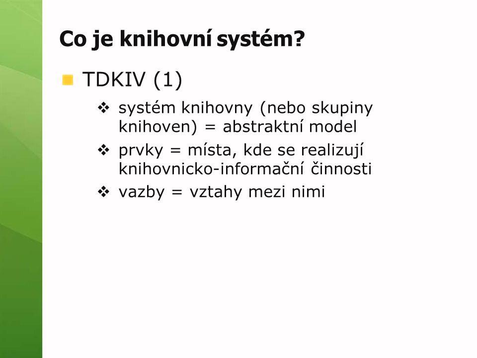 Co je knihovní systém TDKIV (1)