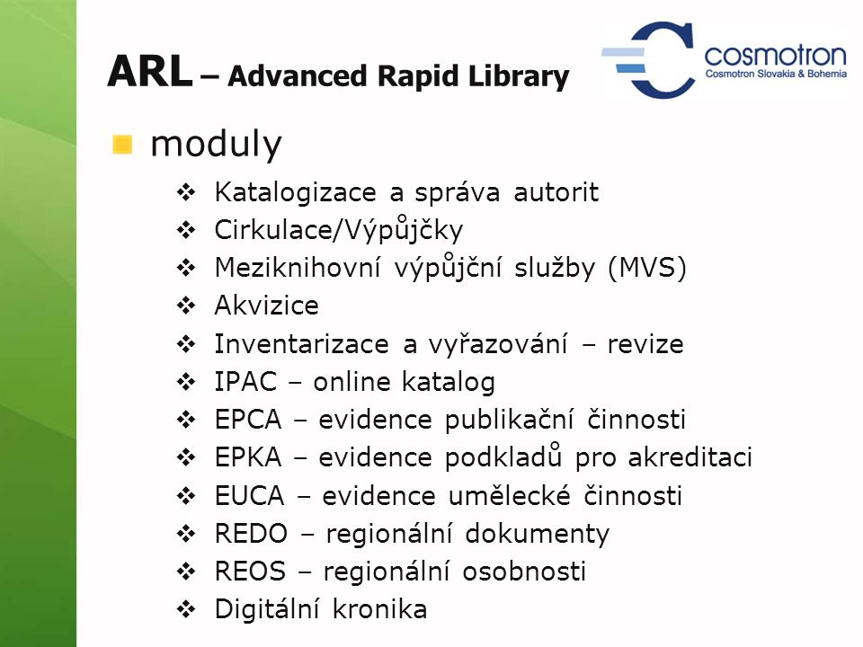 ARL – Advanced Rapid Library