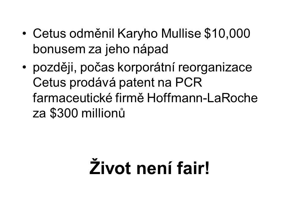 Cetus odměnil Karyho Mullise $10,000 bonusem za jeho nápad