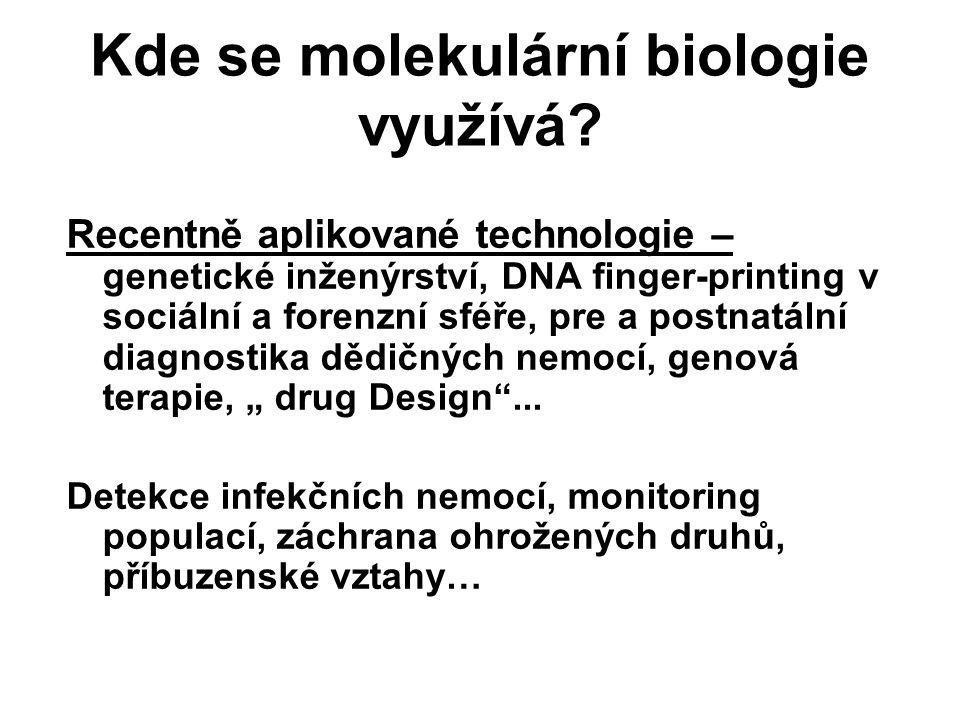 Kde se molekulární biologie využívá