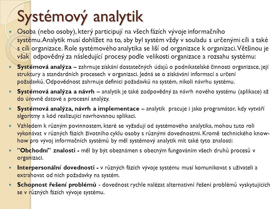 Systémový analytik