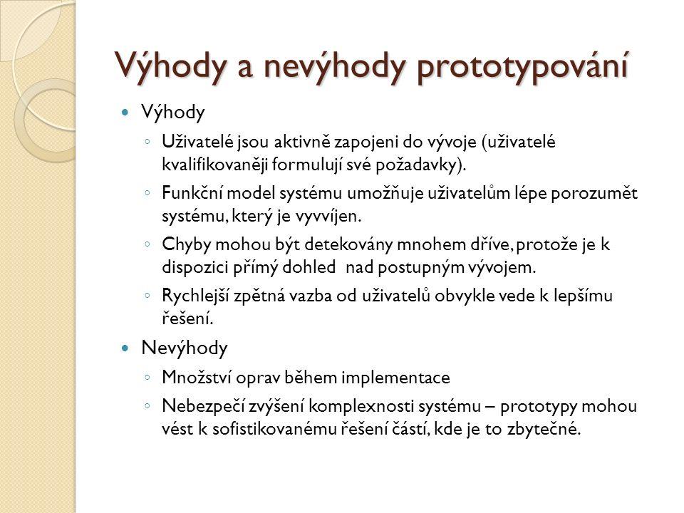 Výhody a nevýhody prototypování