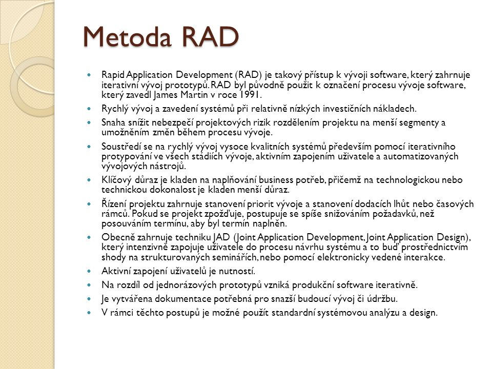 Metoda RAD