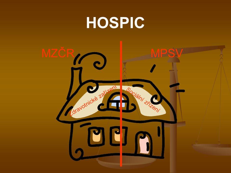 HOSPIC MZČR MPSV Zdravotnické zařízení Sociální zřízení