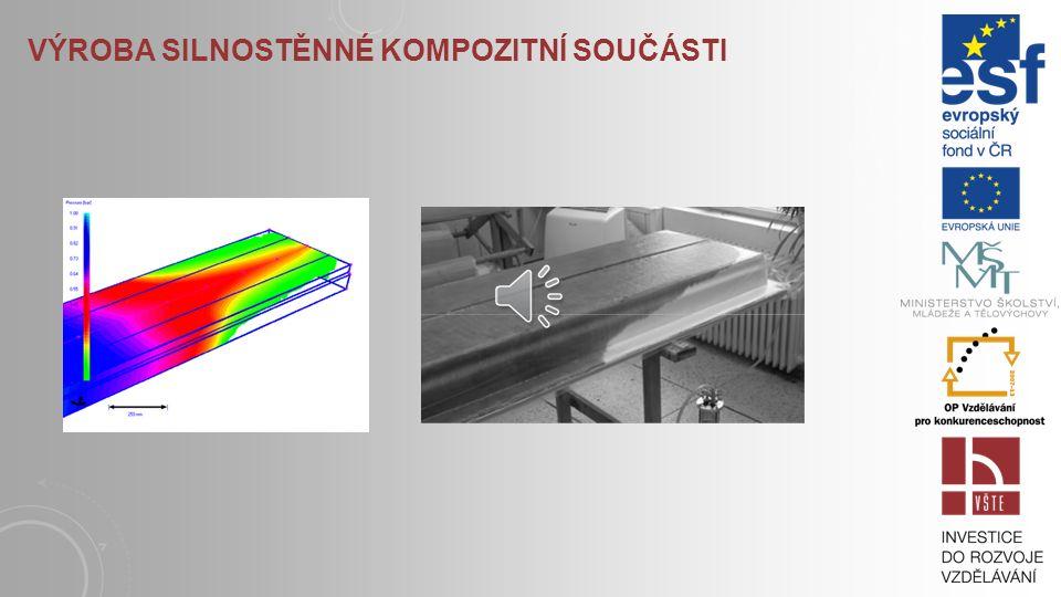 Výroba silnostěnné kompozitní součásti