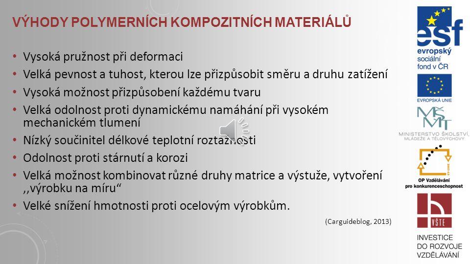 Výhody polymerních kompozitních materiálů