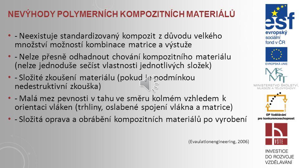 Nevýhody polymerních kompozitních materiálů
