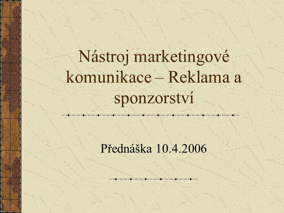 Nástroj marketingové komunikace – Reklama a sponzorství