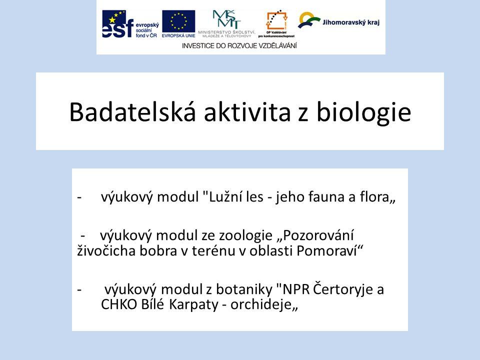 Badatelská aktivita z biologie