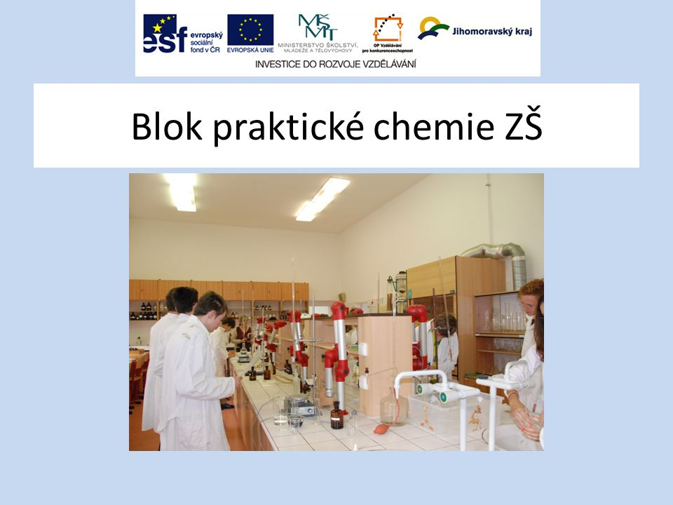 Blok praktické chemie ZŠ