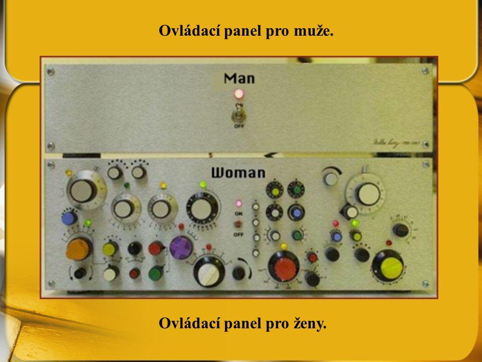 Ovládací panel pro muže.