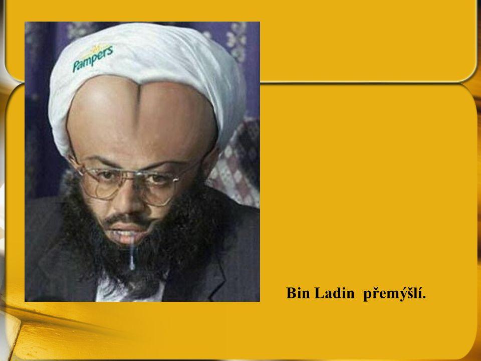 Bin Ladin přemýšlí.