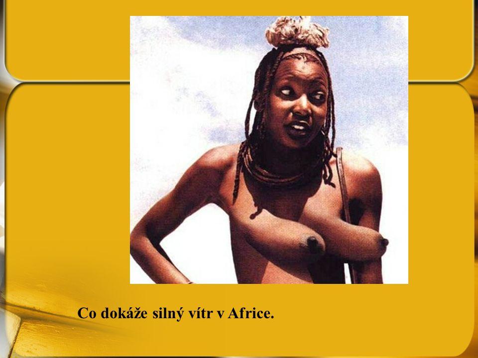 Co dokáže silný vítr v Africe.