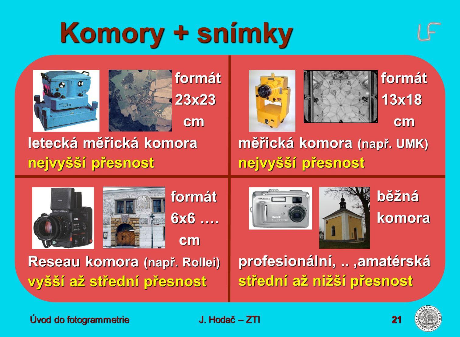 Komory + snímky formát 23x23 cm letecká měřická komora nejvyšší přesnost formát. 13x18. cm. měřická komora (např. UMK)