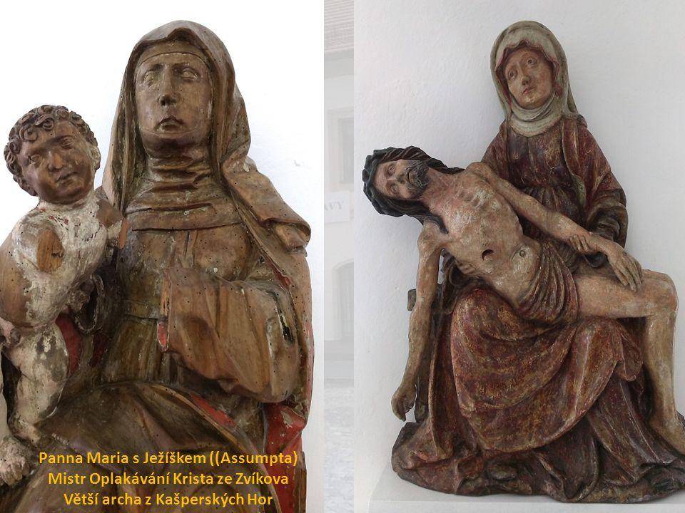 Panna Maria s Ježíškem ((Assumpta) Mistr Oplakávání Krista ze Zvíkova