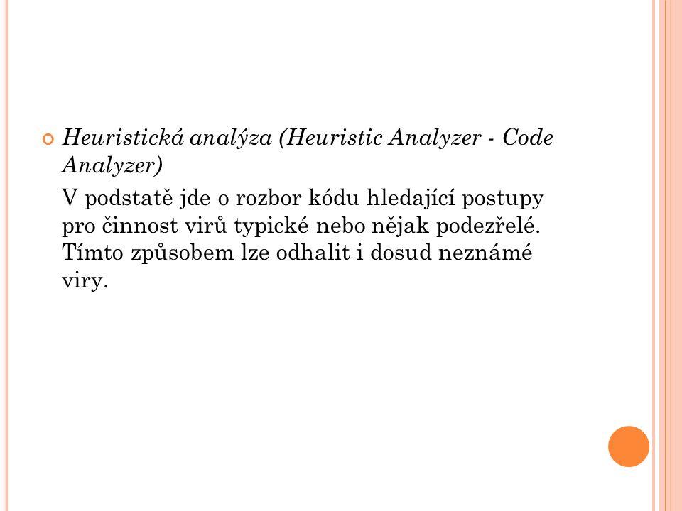 Heuristická analýza (Heuristic Analyzer - Code Analyzer)