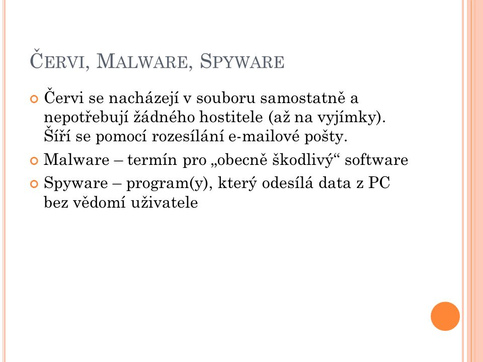 Červi, Malware, Spyware