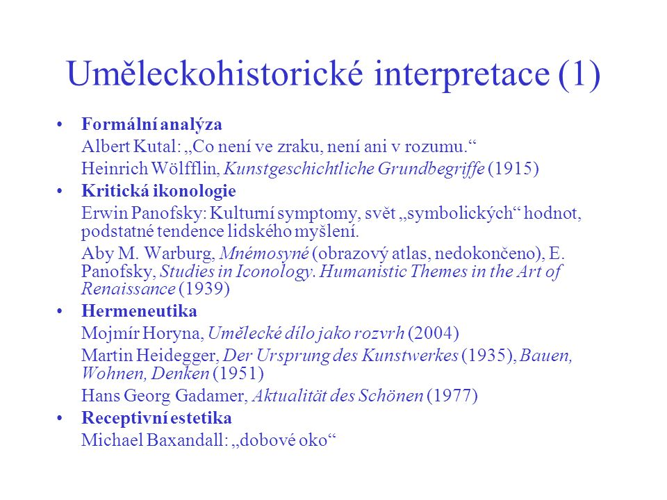 Uměleckohistorické interpretace (1)