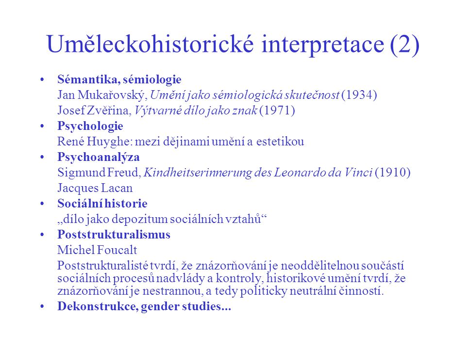 Uměleckohistorické interpretace (2)