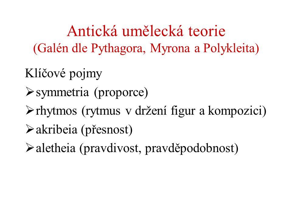 Antická umělecká teorie (Galén dle Pythagora, Myrona a Polykleita)