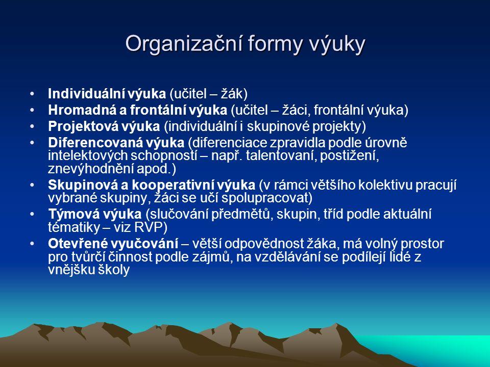 Organizační formy výuky