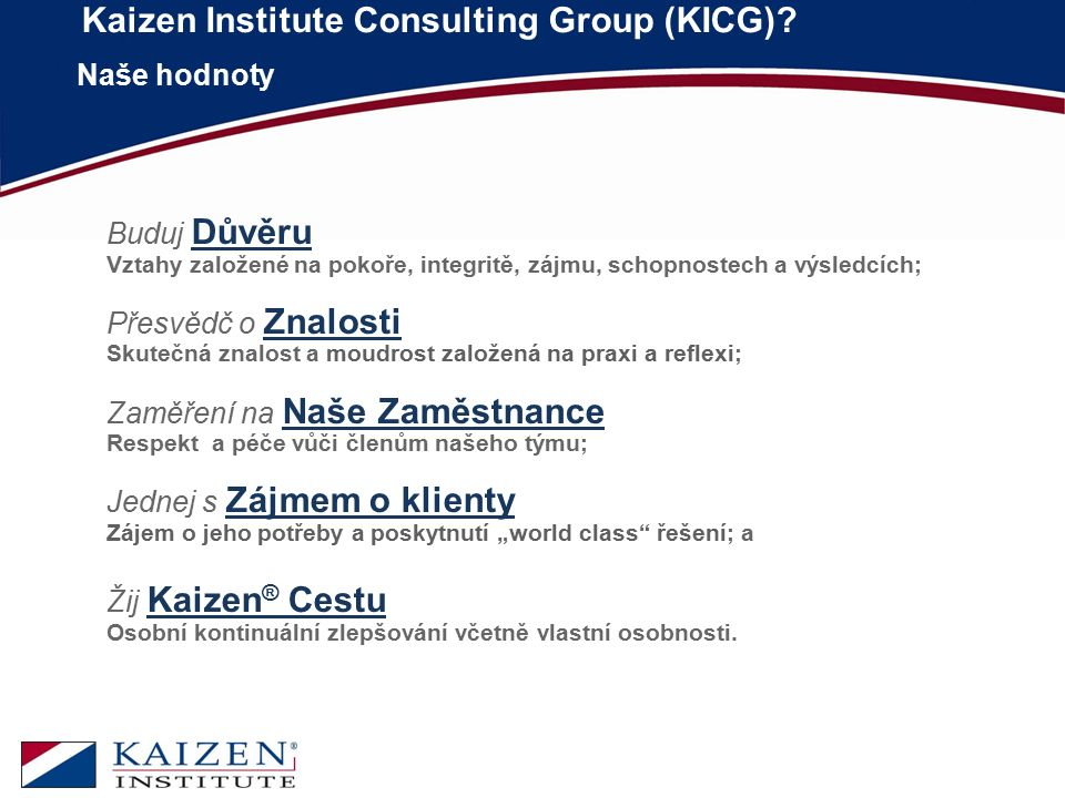 Kaizen Institute Consulting Group (KICG)