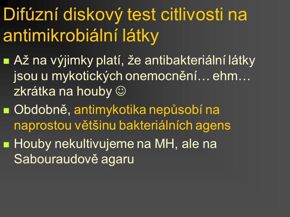 Difúzní diskový test citlivosti na antimikrobiální látky