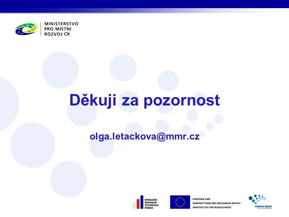 Děkuji za pozornost olga.letackova@mmr.cz