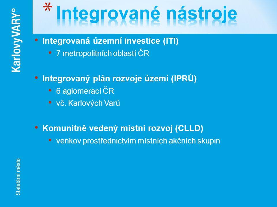 Integrované nástroje Integrovaná územní investice (ITI)