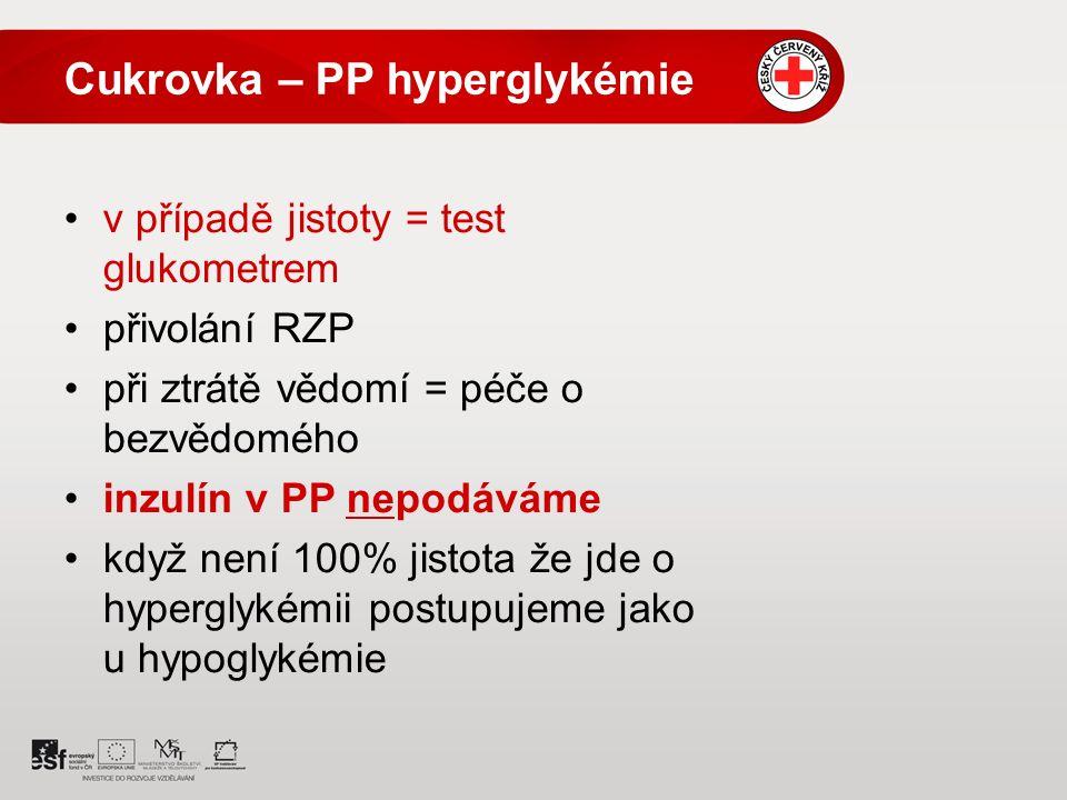 Cukrovka – PP hyperglykémie