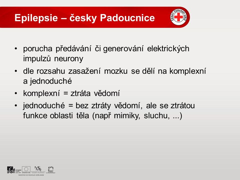 Epilepsie – česky Padoucnice