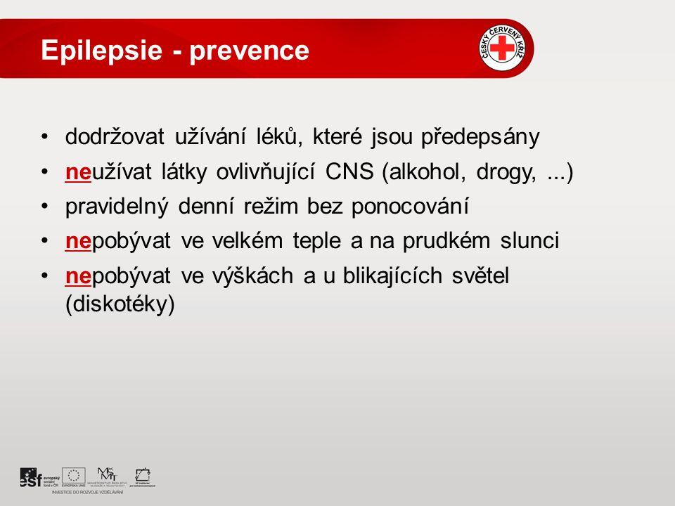 Epilepsie - prevence dodržovat užívání léků, které jsou předepsány