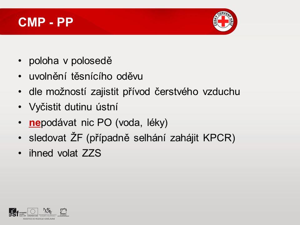 CMP - PP poloha v polosedě uvolnění těsnícího oděvu