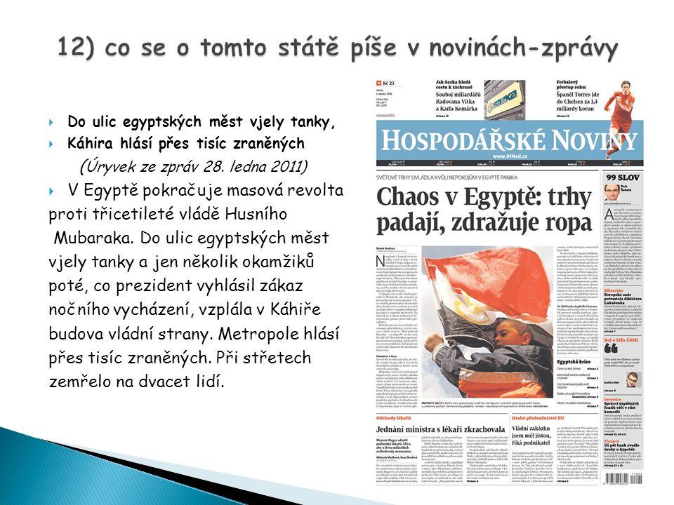 12) co se o tomto státě píše v novinách-zprávy
