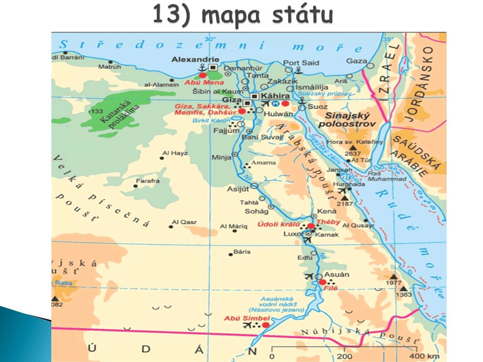 13) mapa státu